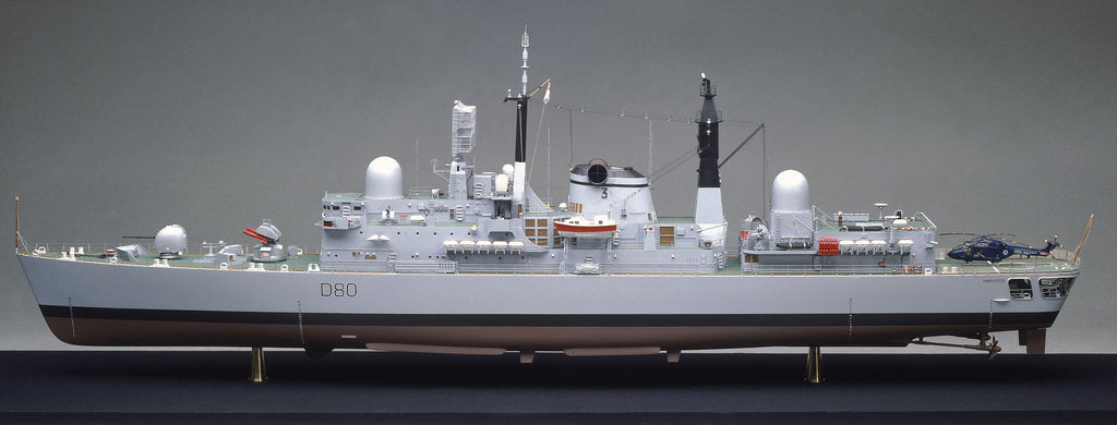 Detail of Type 42 destroyer, HMS Sheffield (1971) by John R. Haynes