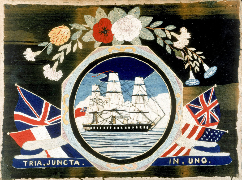 Detail of Embroidery of HMS 'Warrior' by unknown
