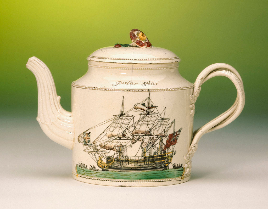 Detail of Teapot with lid by unknown