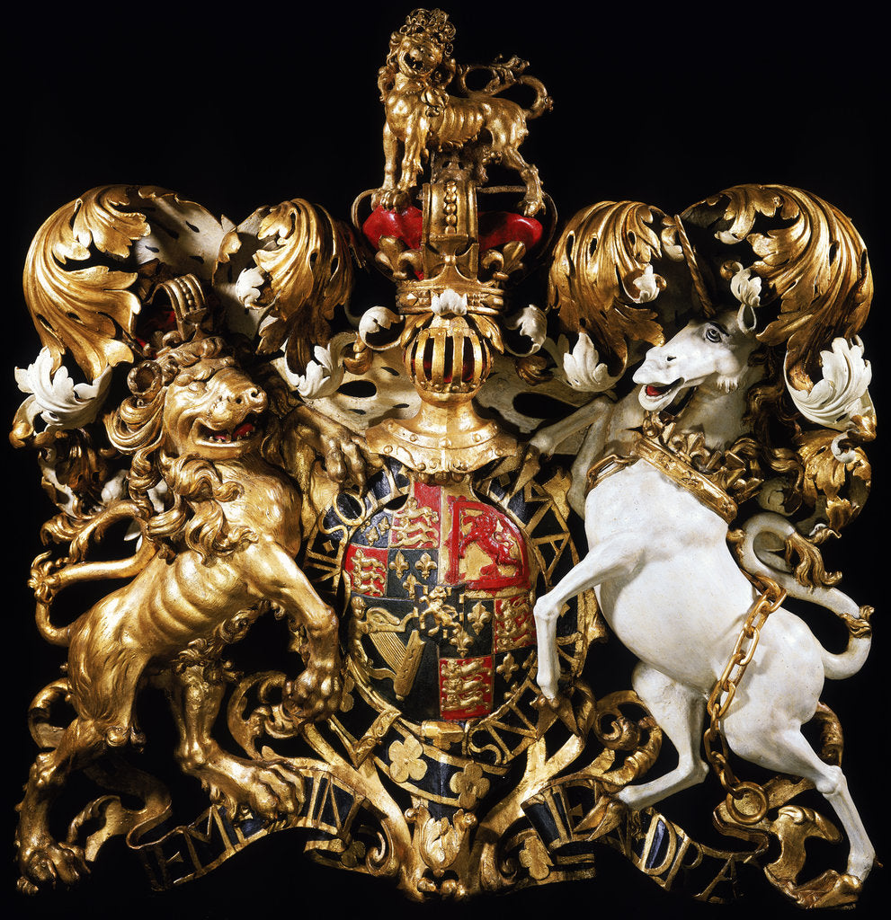 Detail of Royal coat of arms of King William III by unknown
