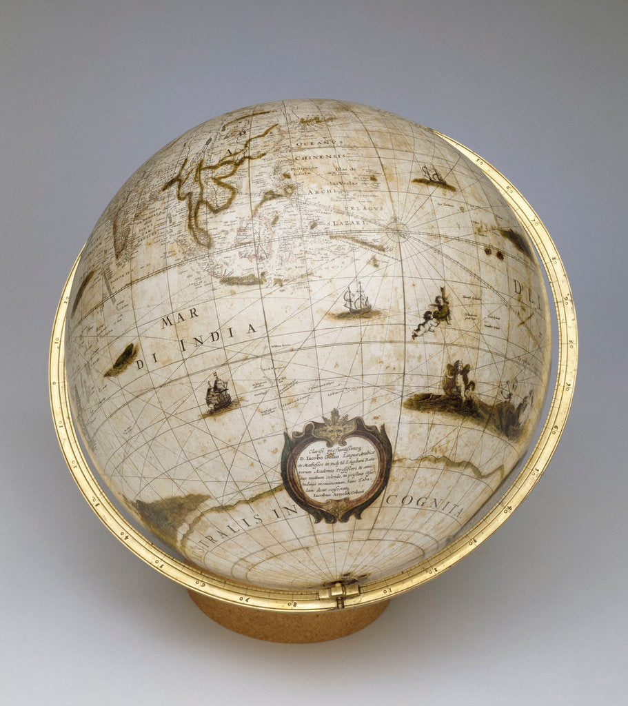 Detail of Terrestrial globe by Jacob Aertsz Colom