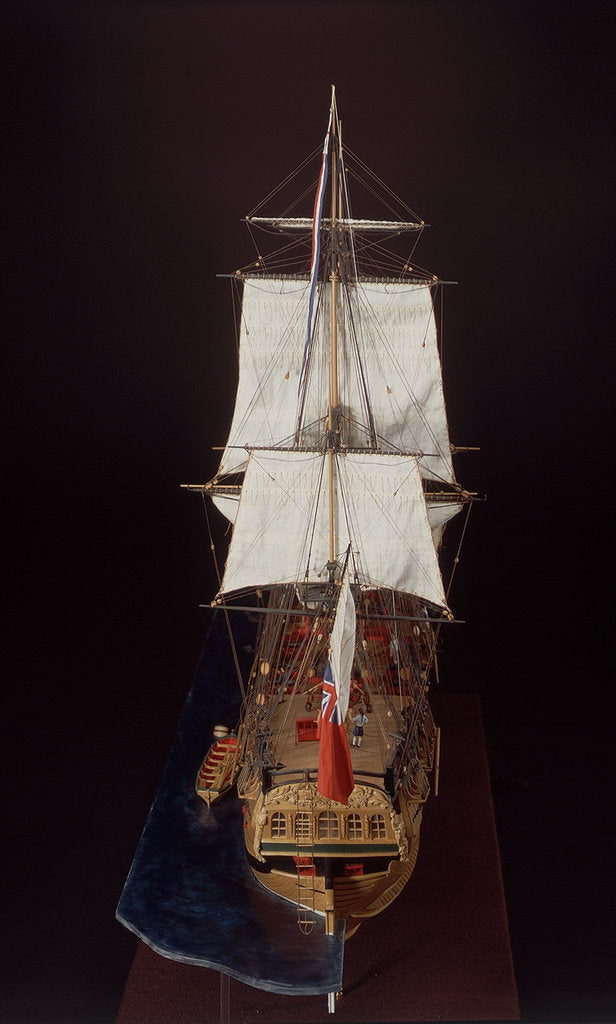 Detail of 'Endeavour', full stern by Robert A. Lightley