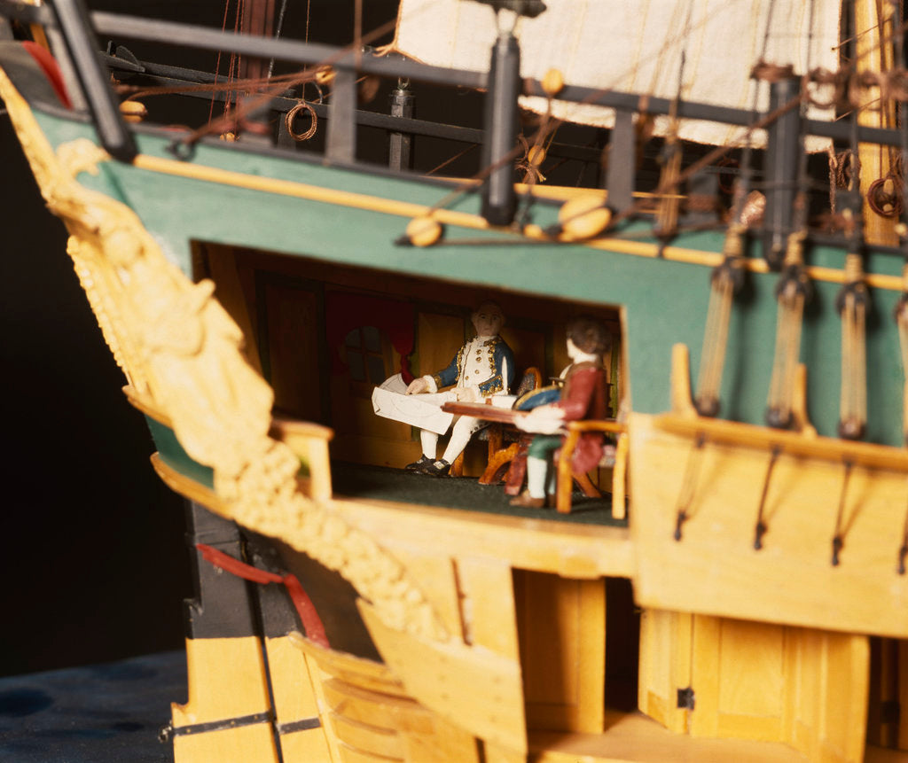 Detail of 'Endeavour', interior, stern cabin by Robert A. Lightley