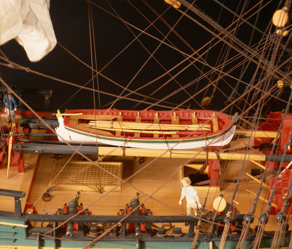 Detail of 'Endeavour', deck detail, yawl by Robert A. Lightley