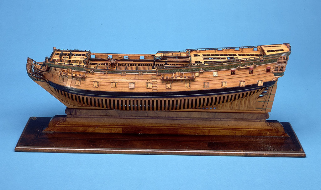 Detail of Ship of 50 guns by unknown