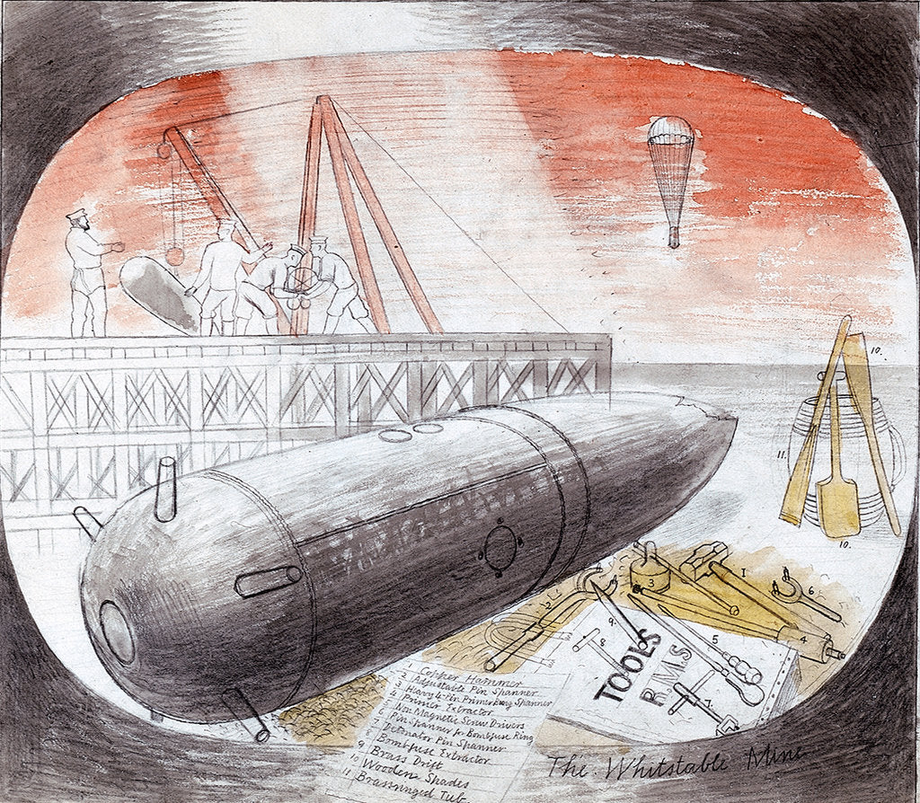 Detail of Submarine Series: The Whitstable Mine by Eric Ravilious