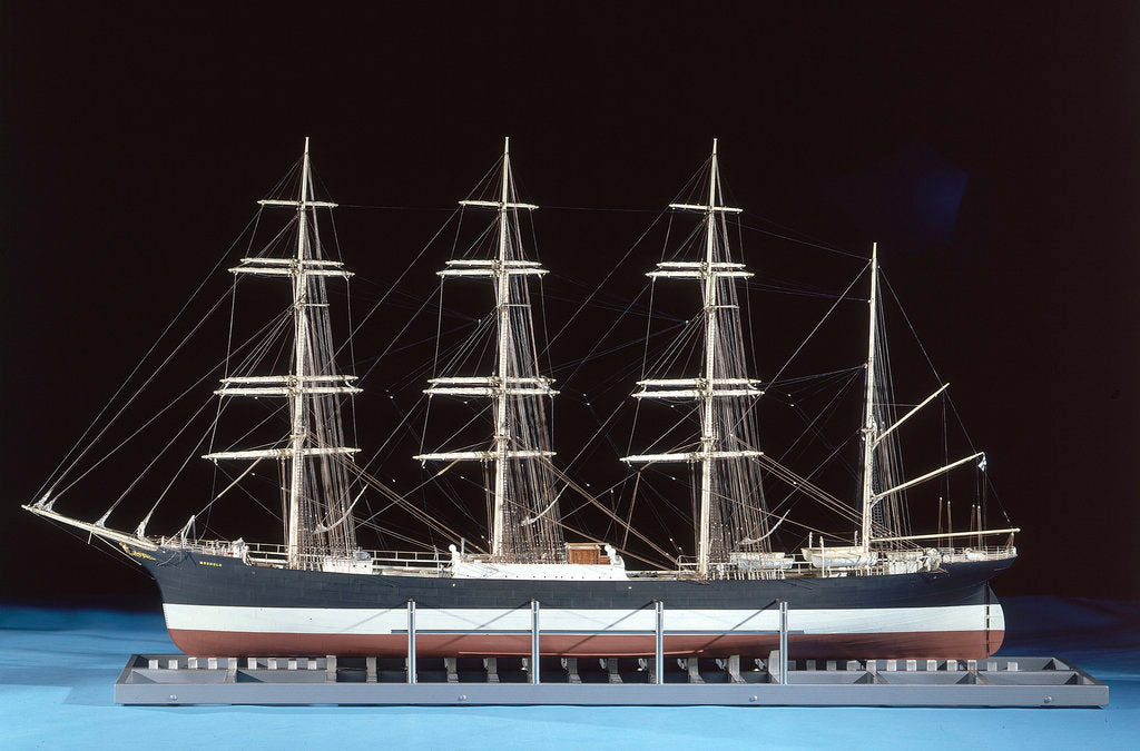 Detail of Model of four-masted barque 'Moshulu' (1904) by Donald Bradley