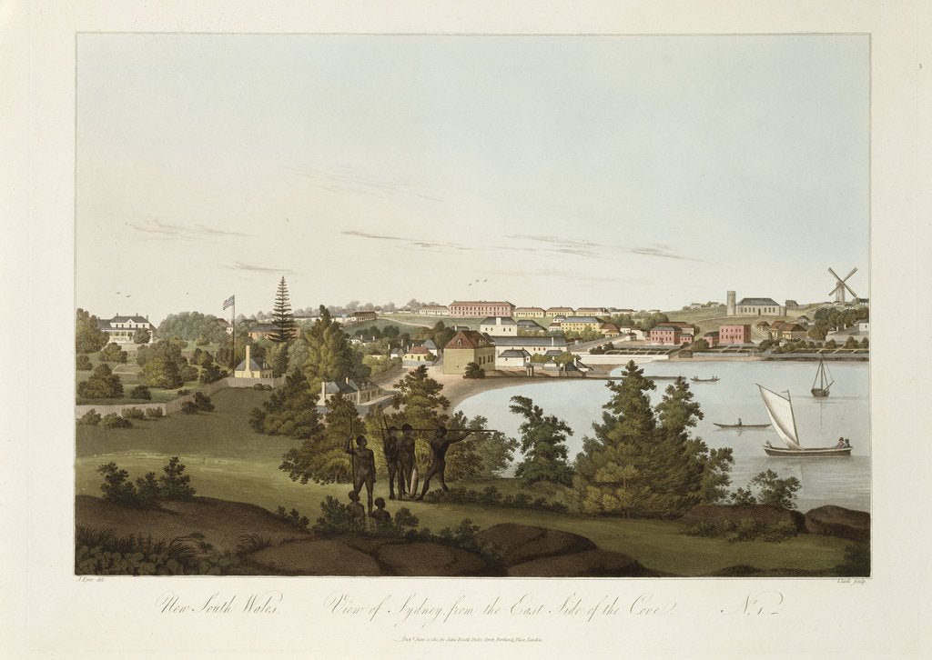 Detail of New South Wales, view of Sydney from the Eastside of the Cove, No 1 by J Eyre