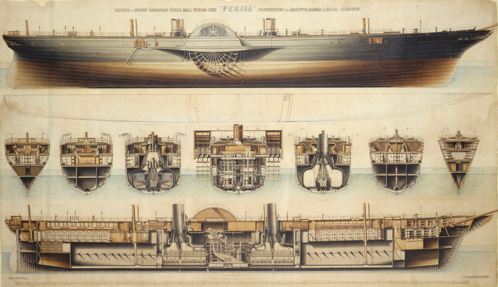 British & North American Royal Mail steam ship 'Persia' (1855)