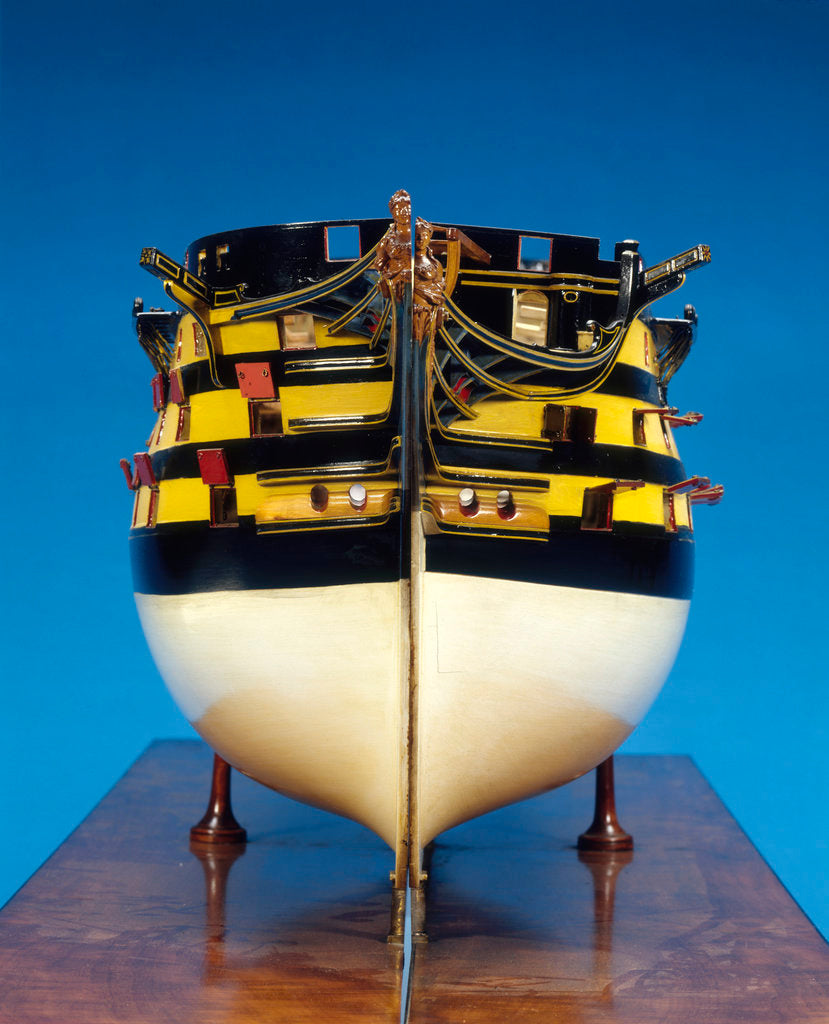 Detail of Model of 'Caledonia' (1808), 120 guns, three decker ship of the line by Robert Seppings