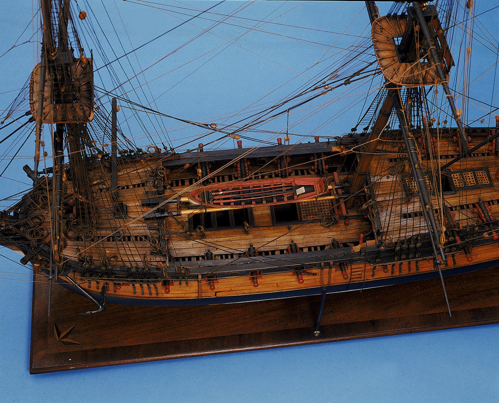 Detail of 'Lowestoft' - detail of longboat by unknown