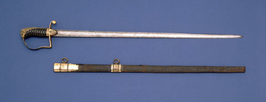 Detail of Stirrup hilted sword by Prosser