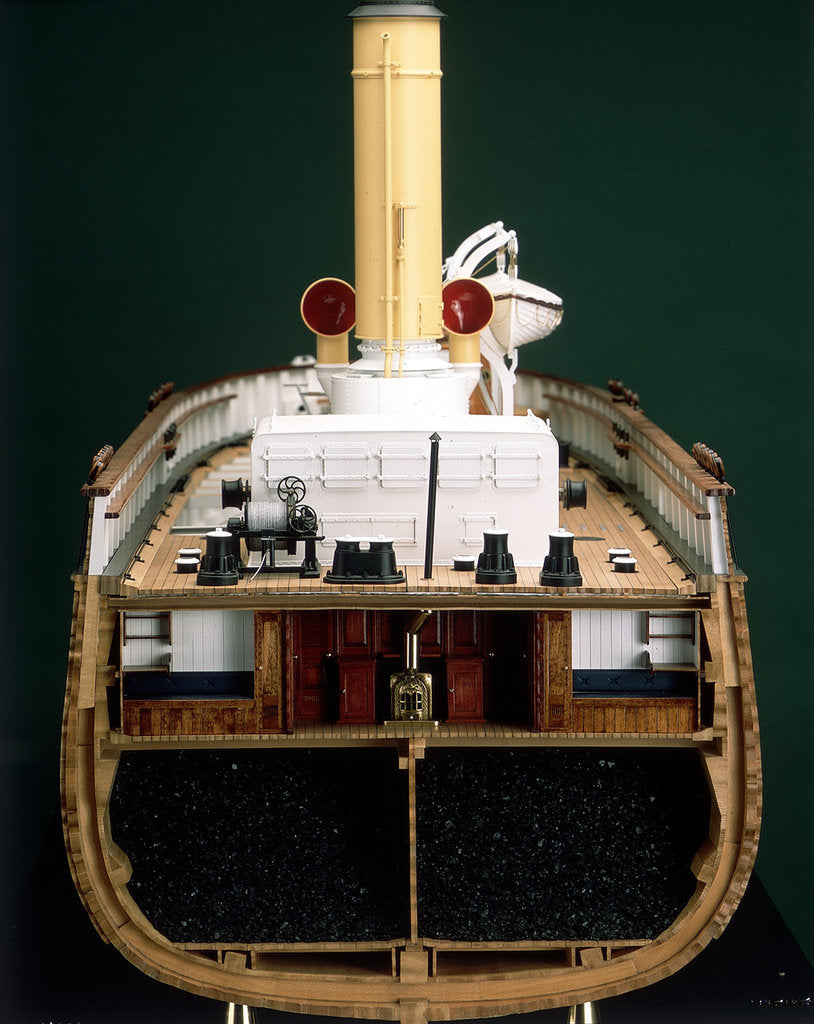 Detail of 'Discovery', midships, cross-sectional view by Severn-Lamb Ltd