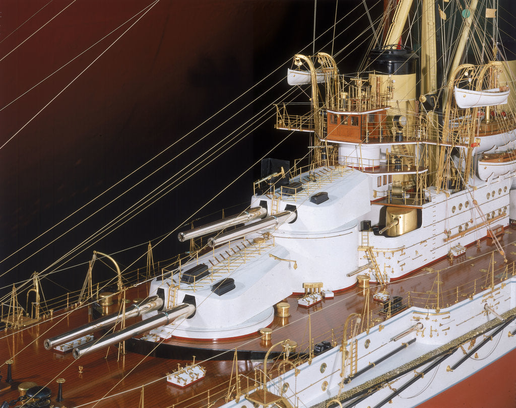 Detail of Model of battleship 'Minas Geraes' (1908) by Sir W. G. Armstrong Whitworth & Co. Ltd