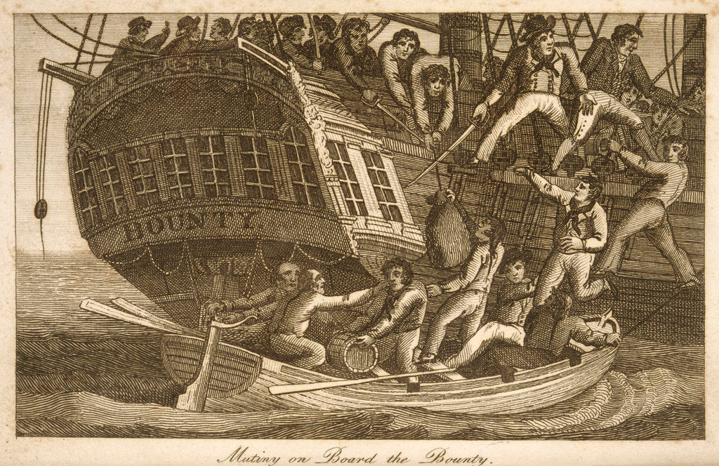 Detail of Mutiny aboard the 'Bounty' by unknown