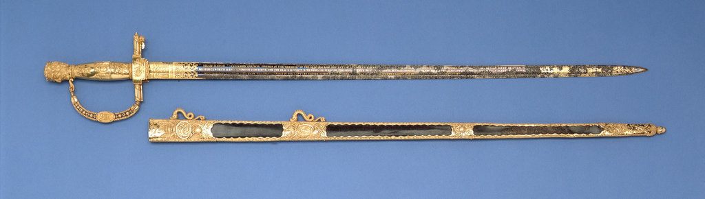Detail of City of London presentation Sword by R. Rutherdon