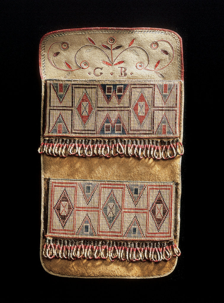 Detail of Métis culture shot pouch, 19th century by unknown