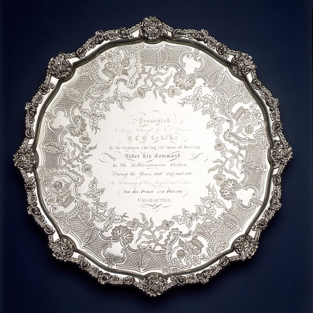Detail of Salver by Smith