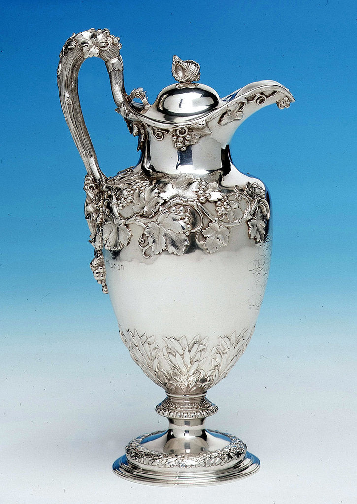 Detail of Claret jug by Edward Barnard