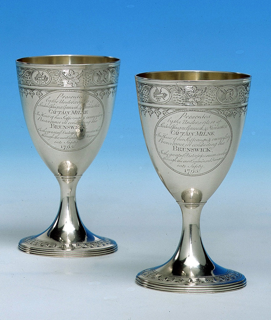 Detail of Goblets by Henry Chawner