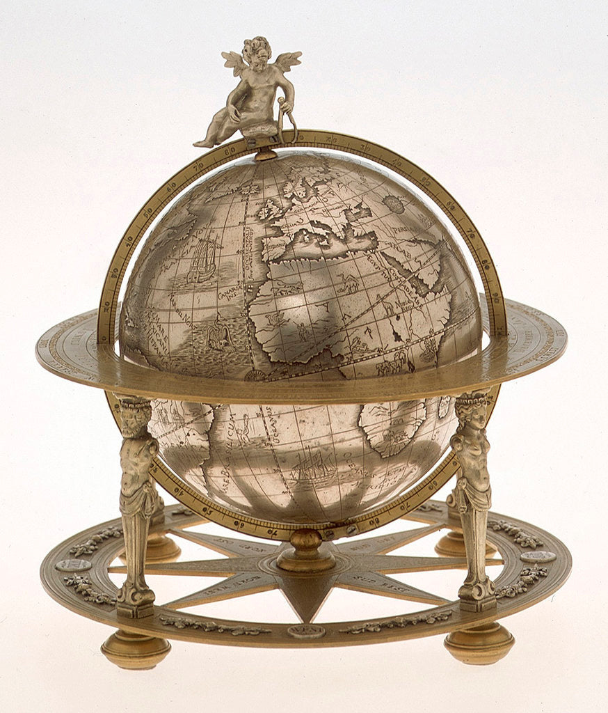 Detail of Sphere and stand by unknown