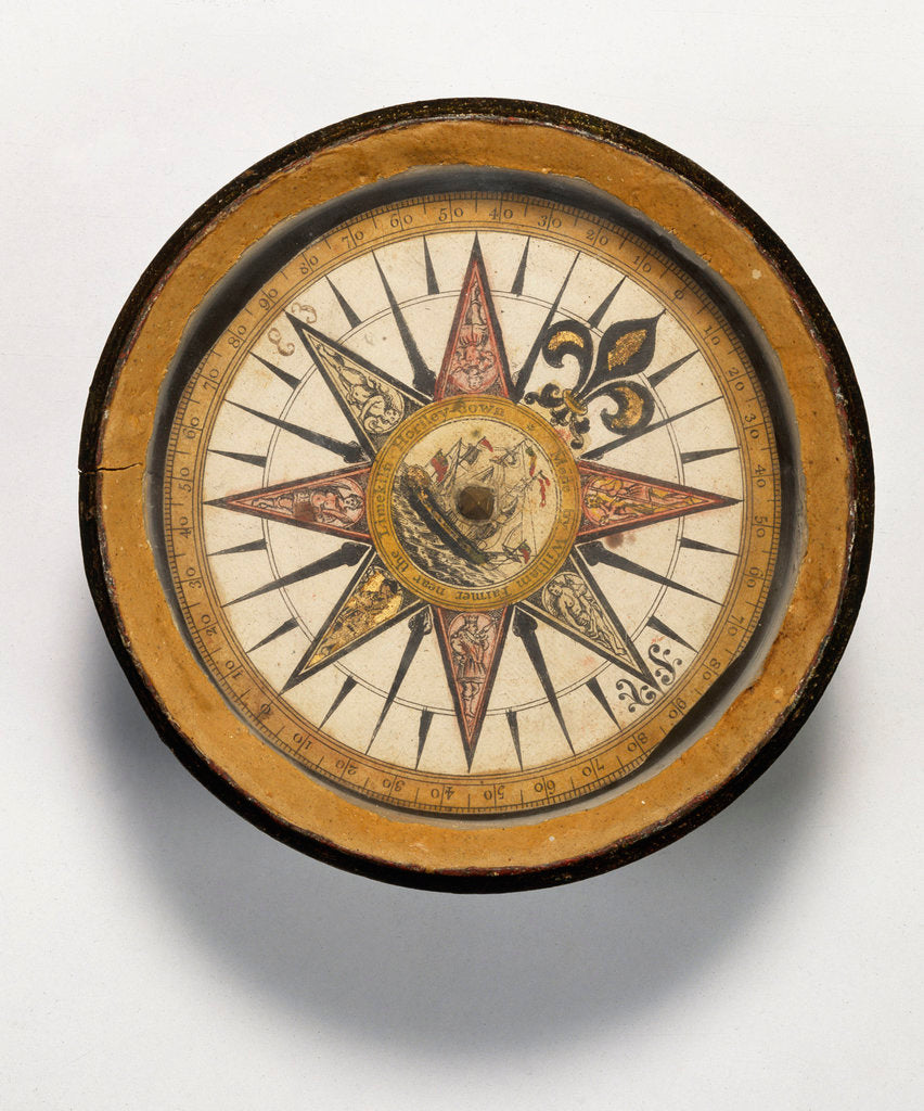 Detail of Mariner's compass by William Farmer