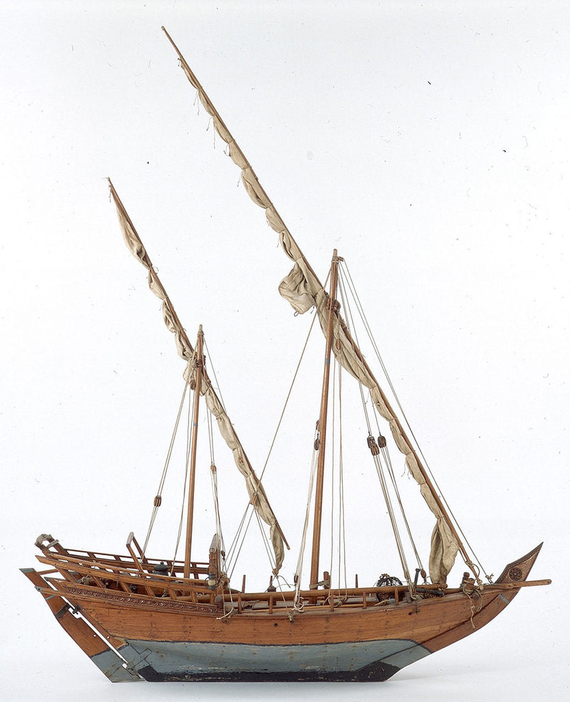 Detail of Sambuk dhow by unknown
