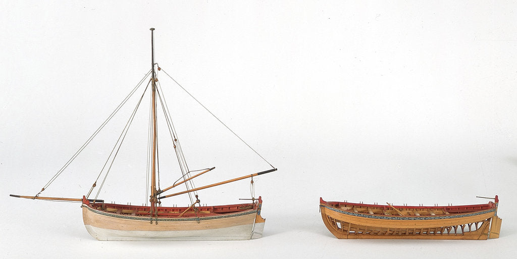 Detail of SLR0329 and SLR0330 - Longboats from 'Medway' by unknown