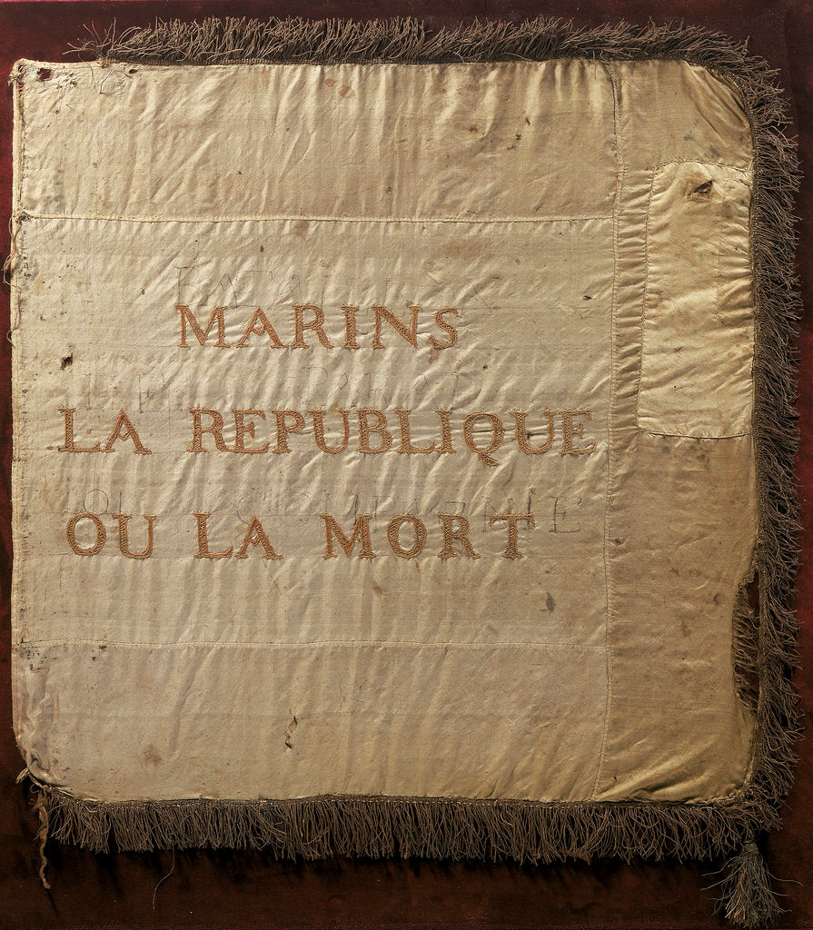 Detail of French republican banner by unknown