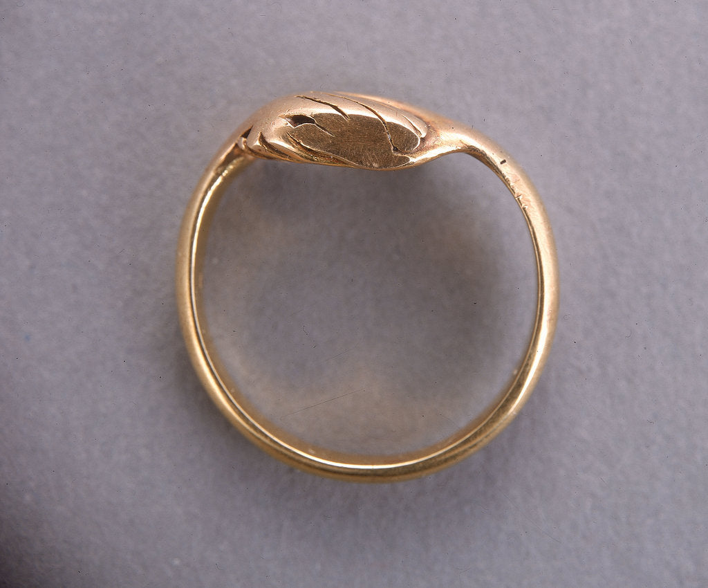 Detail of Nelson's betrothal ring by unknown