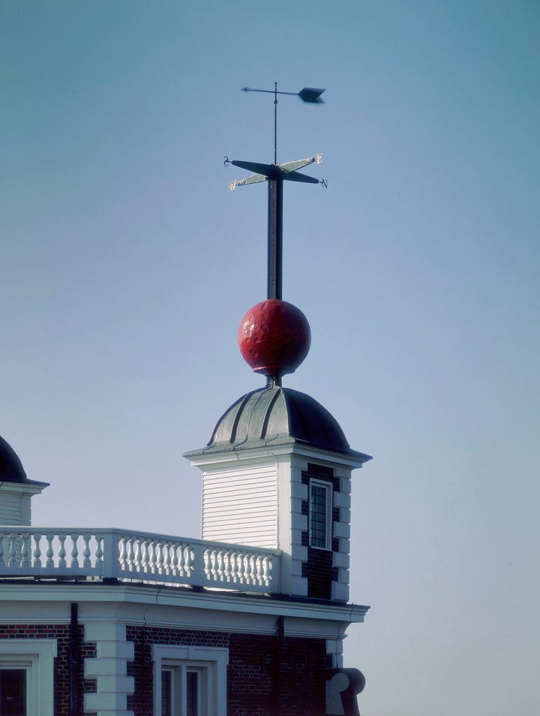 Detail of Time ball (in dropped position) at Royal Observatory, Greenwich by National Maritime Museum Photo Studio