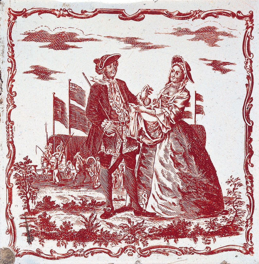 Detail of Tile design 'The Sailor's Farewell' by John Sadler