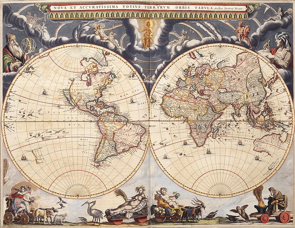 Detail of World map from the Blaeu Atlas, 17th century by John Blaeu