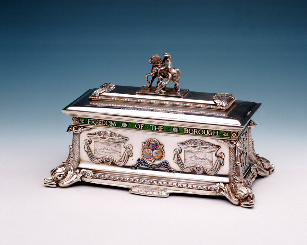 Detail of Freedom casket by Carrington & Co Ltd