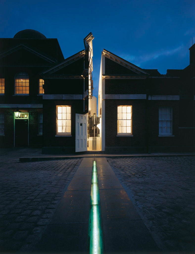 Detail of Illuminated Meridian Line at night, Royal Observatory, Greenwich by National Maritime Museum Photo Studio