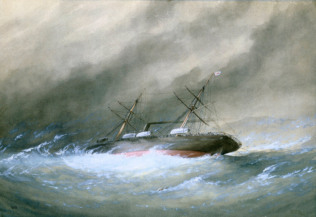 Detail of Wreck of the Royal Mail 'Rhone' by William Frederick Mitchell