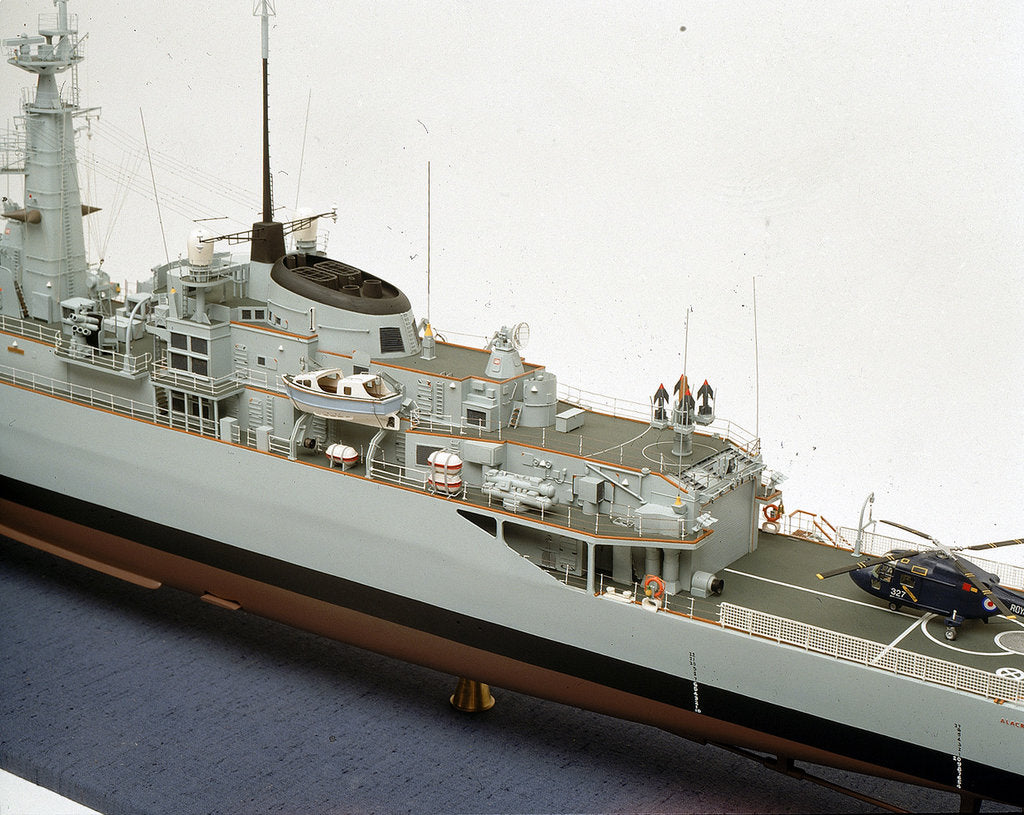 HMS 'Alacrity', port side deck detail by John R. Haynes