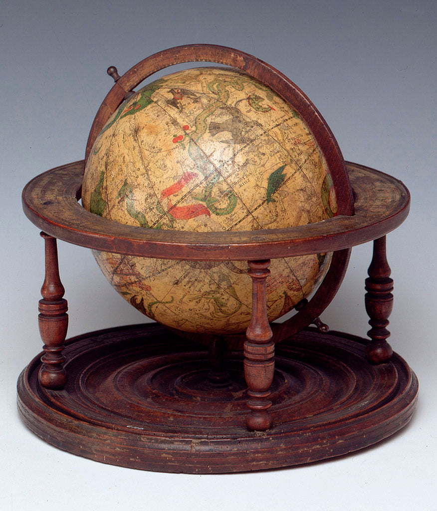 Detail of Celestial table globe, sphere and stand by Isaac Habrecht II