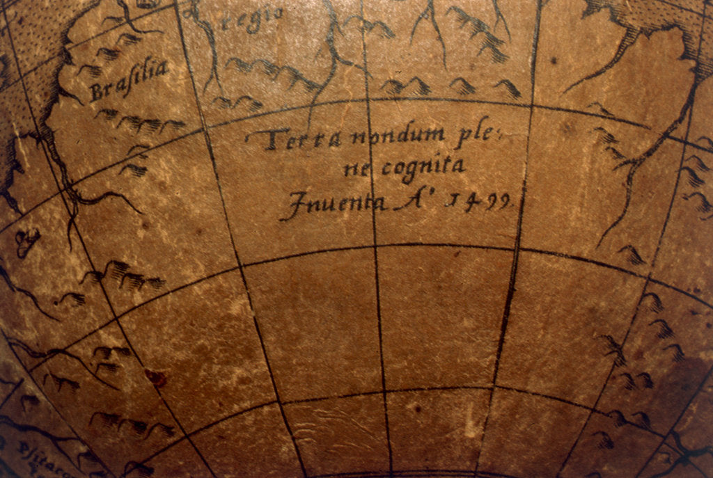 Detail of note in hypothetical southern continent by Joannes Oterschaden