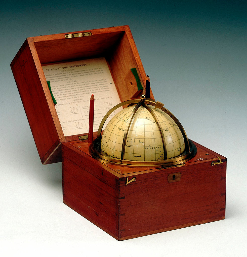 Detail of Sphere and box by Cary & Co