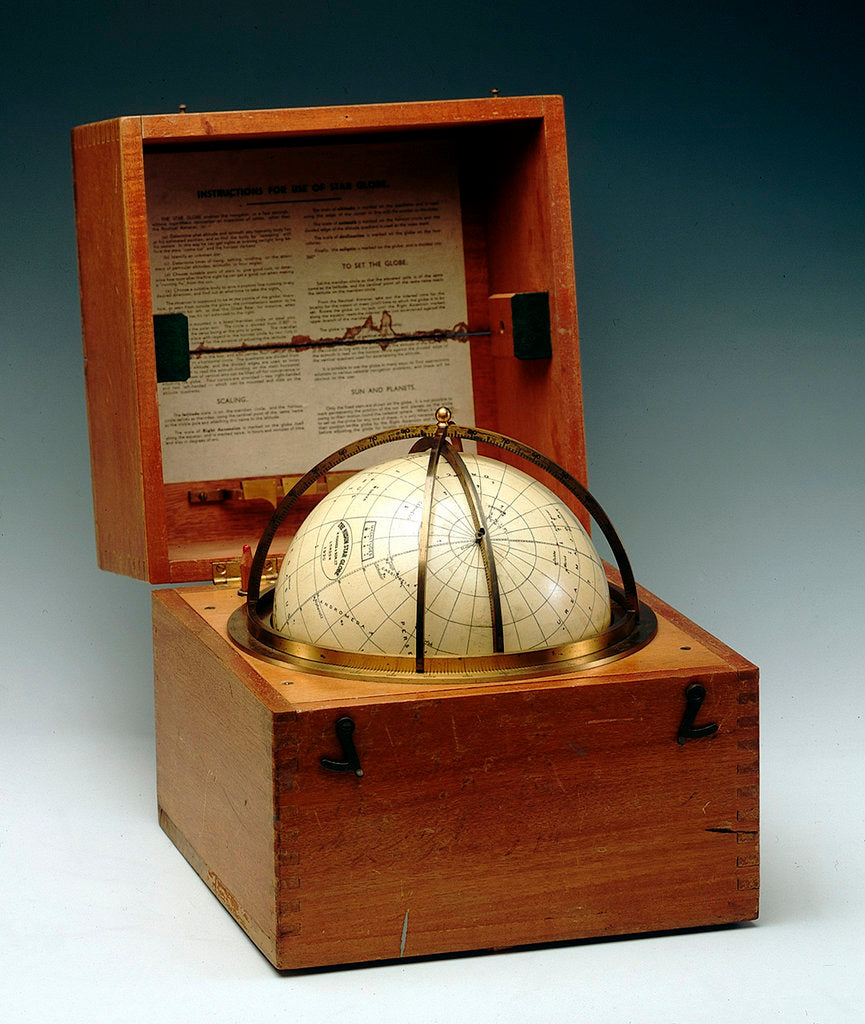 Detail of Sphere and box by Henry Hughes & Son