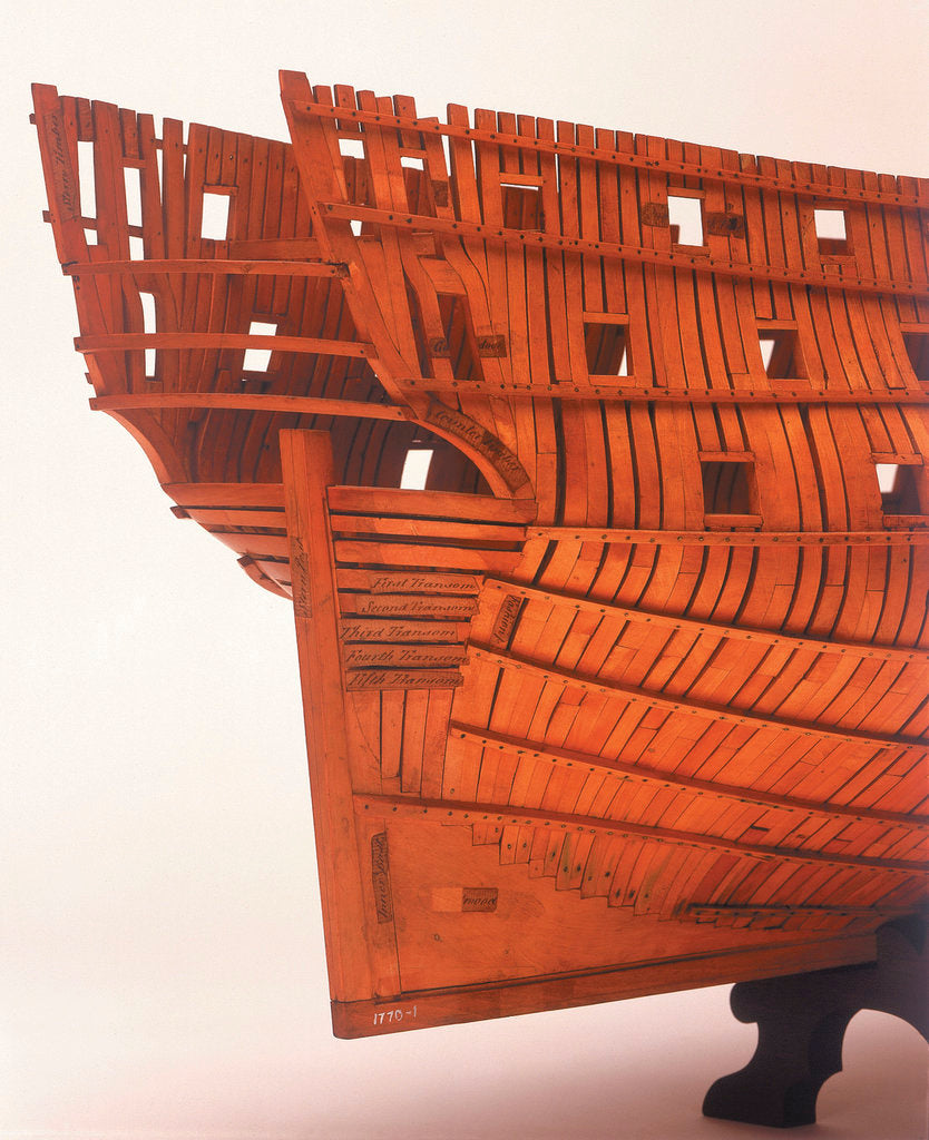 Detail of 'Intrepid', starboard stern quarter detail by Joseph Williams