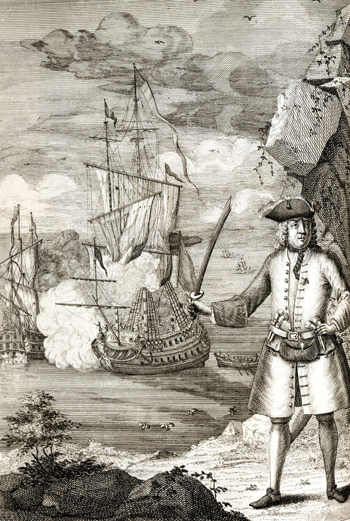 Detail of Captain Henry Avery taking one of the Great Moghul's ships by unknown