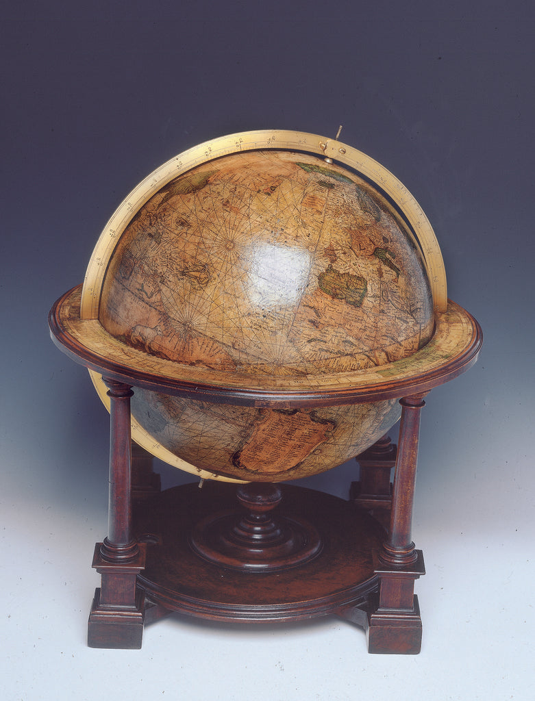 Detail of Terrestrial table globe by Mercator by Gerard Mercator