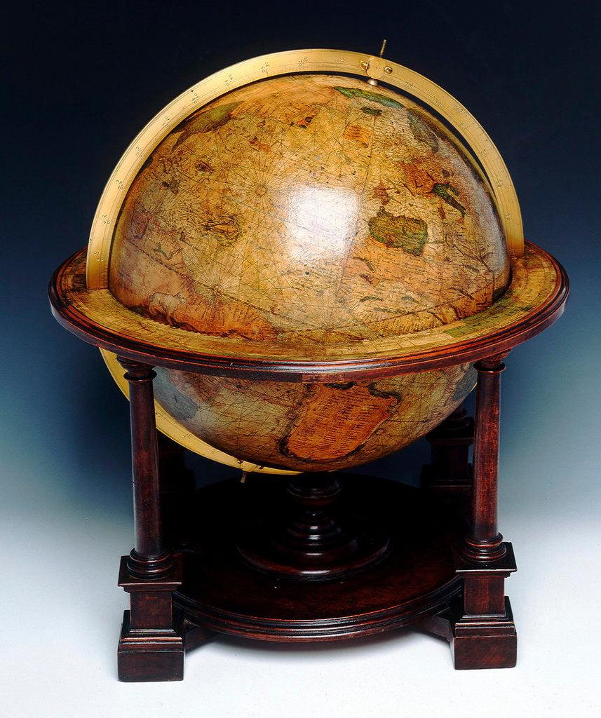 Detail of Sphere and stand by Gerard Mercator