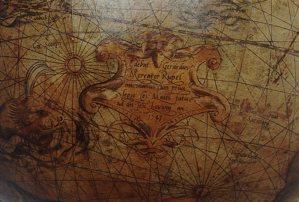 Detail of Imprint in Pacific Ocean by Gerard Mercator