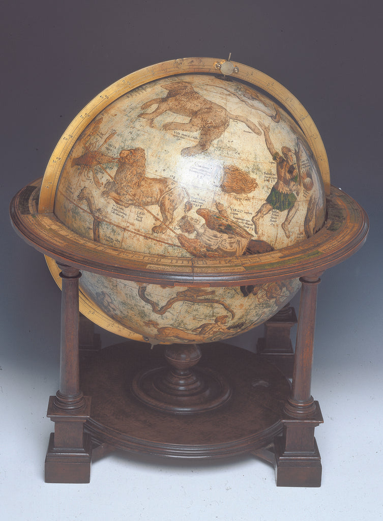 Detail of Celestial table globe by Mercator by Gerard Mercator