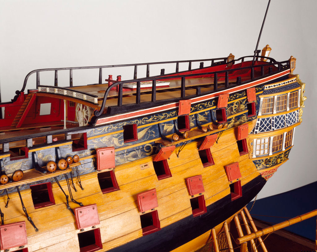 Detail of 'Bellona', stern detail by George Stockwell