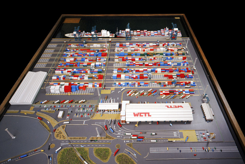 Detail of Model of the Walton Container Terminal IN COPYRIGHT? by Minima Industrial Modelmaking