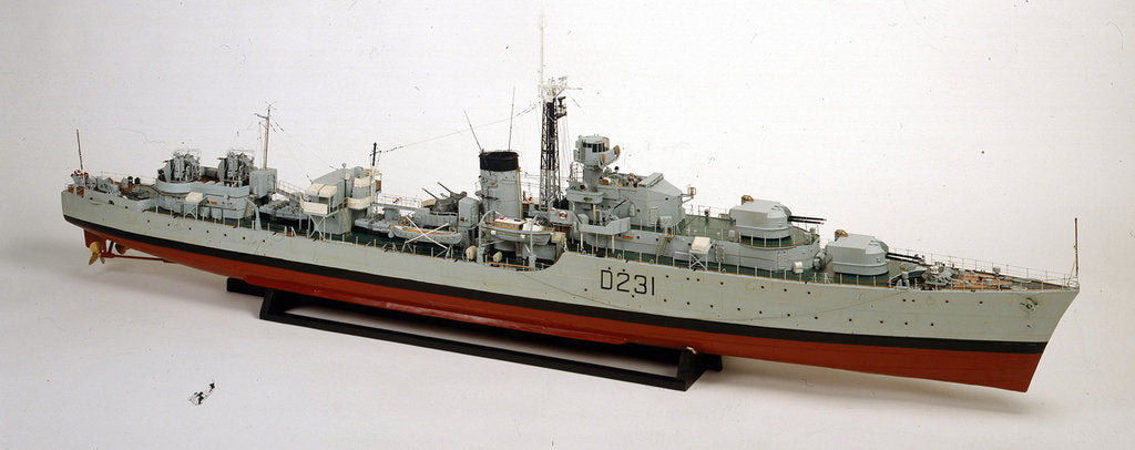 Detail of HMS 'Vigo', starboard by Norman Peters